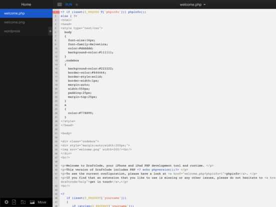 DraftCode PHP IDE Screenshots