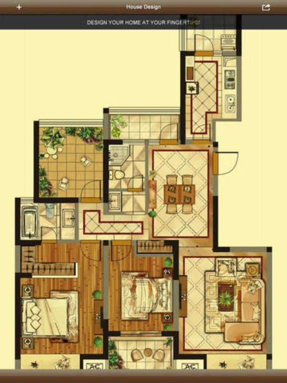 Home Plan 3D Interior Design House Floorplan By Lee Peng