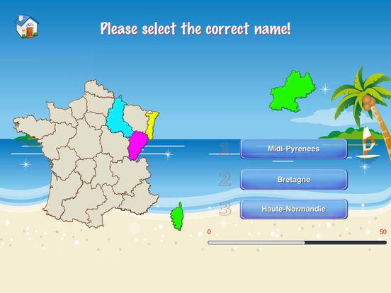 France Puzzle Map iPad Screenshot 3