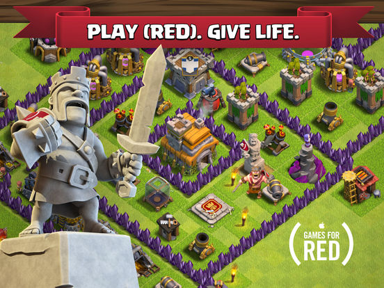 Screenshots of Clash of Clans for iPad