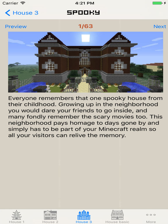App shopper house building ideas guide for minecraft pe for Home building guide