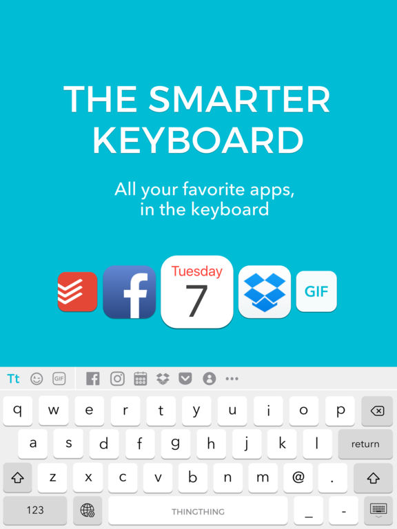 Thingthing Keyboard: Connected, Unified, Private. Screenshot