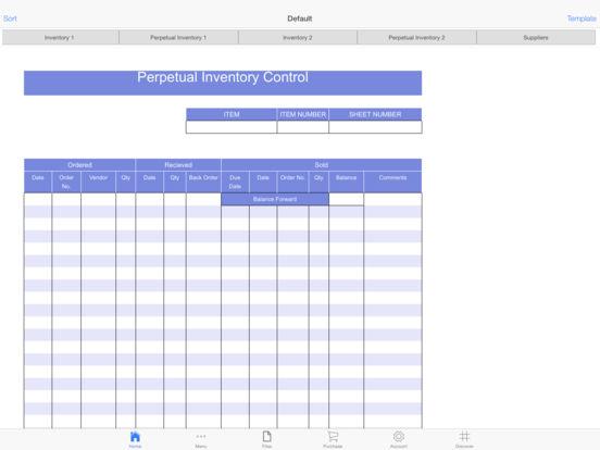Parts Inventory Screenshots