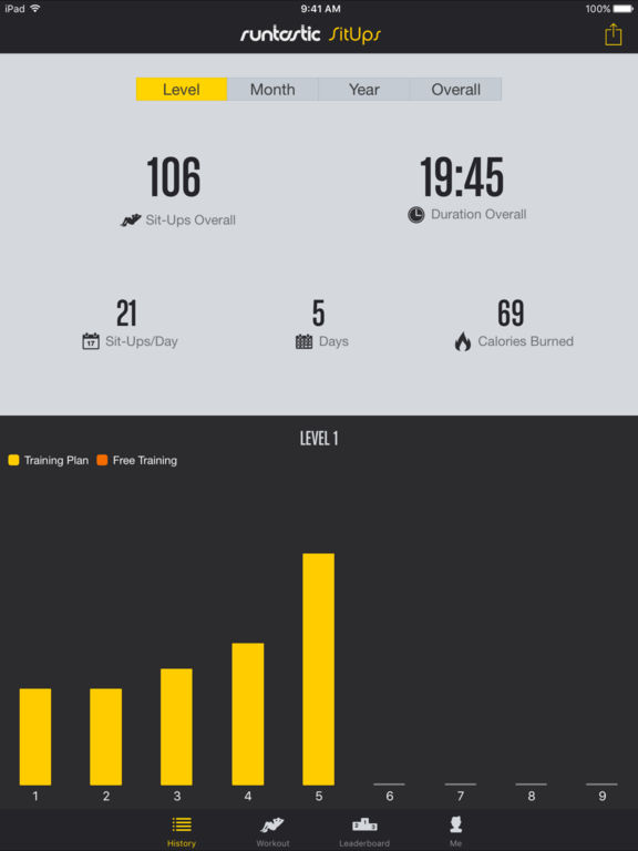 Runtastic Sit Ups PRO Ab Trainer & Counter Screenshots