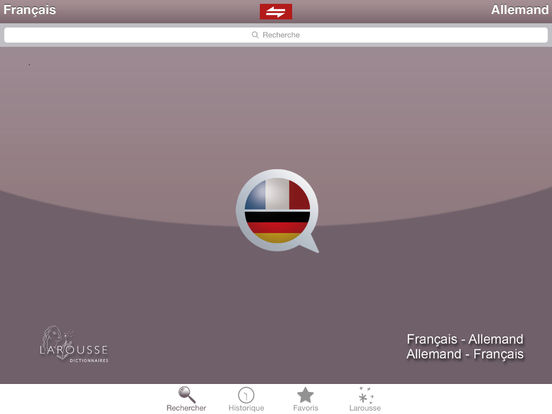 Dictionnaire Allemand-Français Larousse iPad Screenshot 1