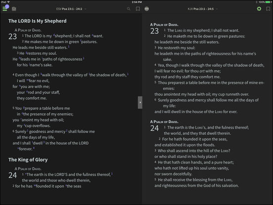 ESV Bible for BibleReader iPad Screenshot 1