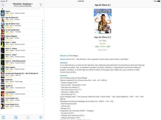 Filmotech iPad Screenshot 1