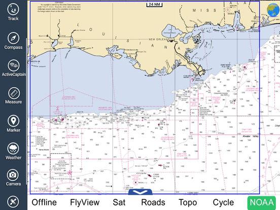 Marine: Louisiana-Mississippi-Alabama HD iPad Screenshot 5