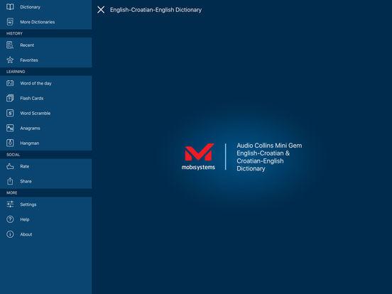 Audio Collins Mini Gem English-Croatian & Croatian-English Dictionary iPad Screenshot 1