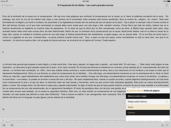 El Crepúsculo de los Idolos iPad Screenshot 1