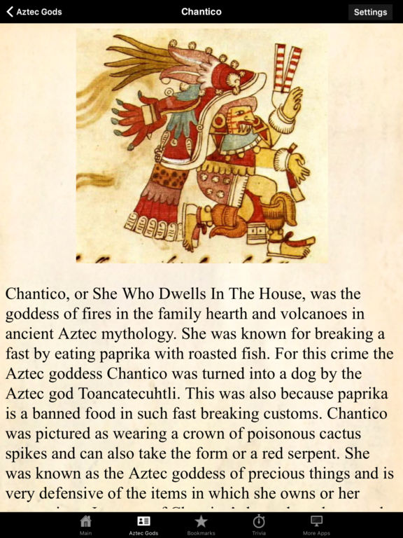 App Shopper: Aztec Gods & Mythology Pocket Reference Guide ...