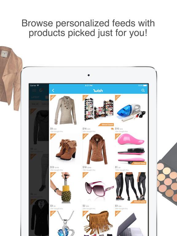 Screenshots of Wish - Shopping Made Fun for iPad