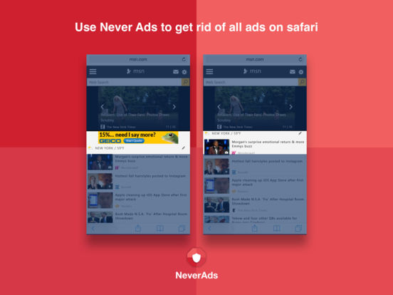 Adblock for Free by NeverAds | The Best Ad Blocker Extension for Safari, Fast Browsing screenshot