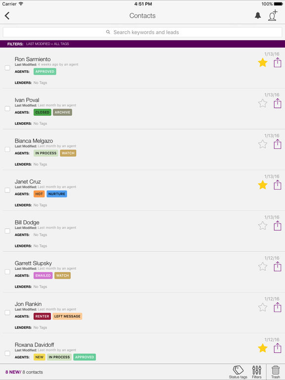 Big Purple Dot - Contact Management Tools for Real Estate Experts screenshot