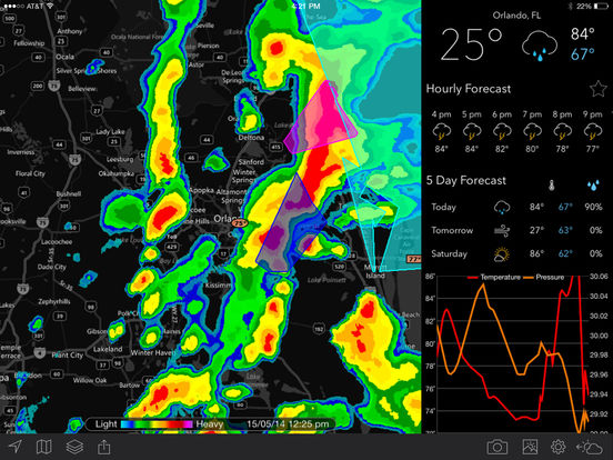 Screenshots of MyRadar NOAA Weather Radar – Forecasts, Storms, and Earthquakes for iPad