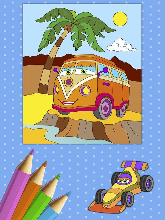 Автомобили Книжка-раскраска - краски Autos Скриншоты7