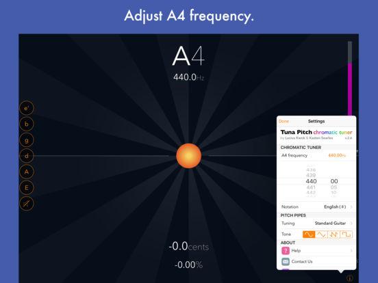 Tuna Pitch chromatic tuner iPad Screenshot 1