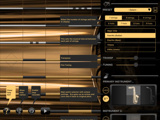 Sax - iFretless Screenshots