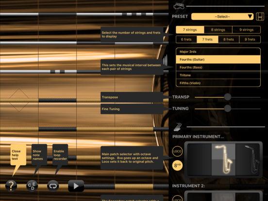 Sax - iFretless Screenshots