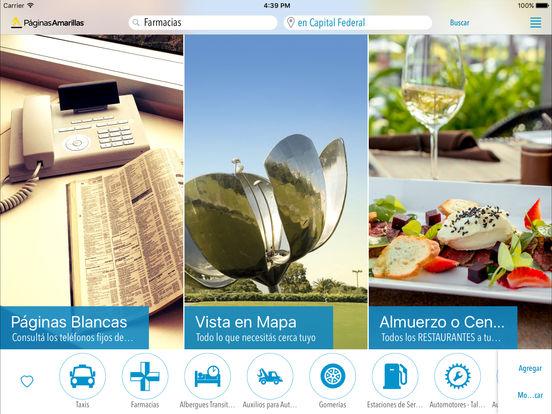 Páginas Amarillas Argentina iPad Screenshot 1