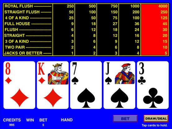 Video Poker HD iPad Screenshot 2