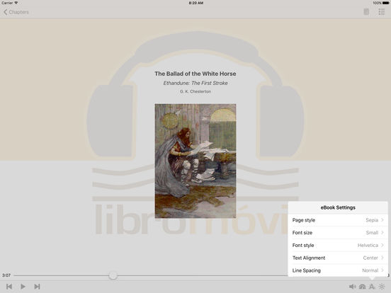 The Ballad of the White Horse - AudioEbook iPad Screenshot 1
