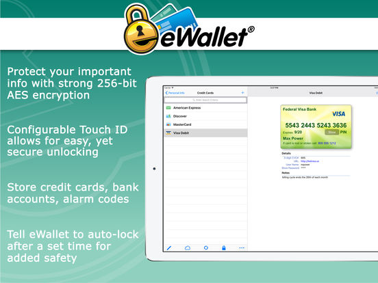 eWallet - Secure Password Manager iPad Screenshot 2