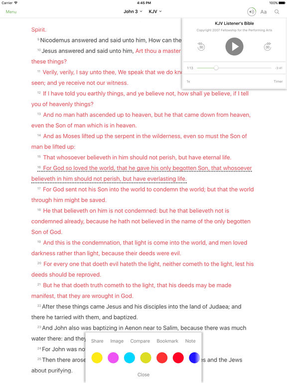Screenshots of Bible for iPad