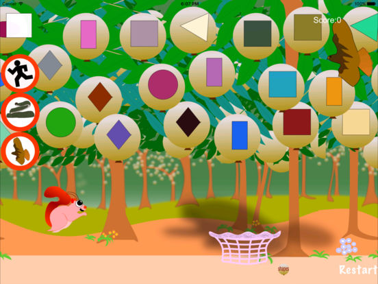 Squirrel Letters Numbers and Shapes Screenshots