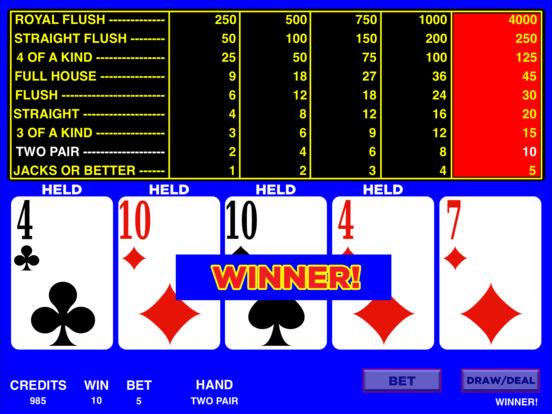 Video Poker HD iPad Screenshot 5