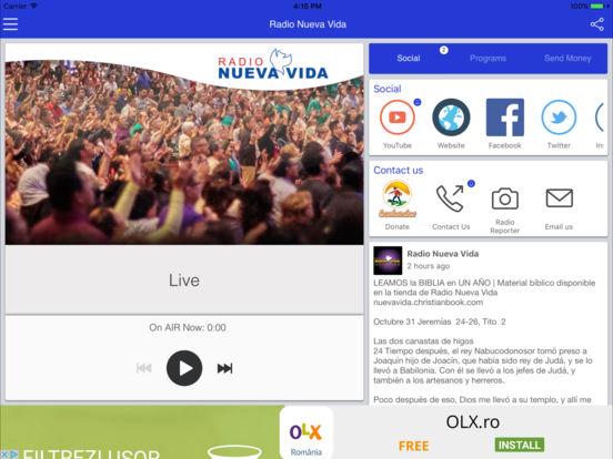 Radio Nueva Vida – Alabando a Dios en todo momento. iPad Screenshot 1
