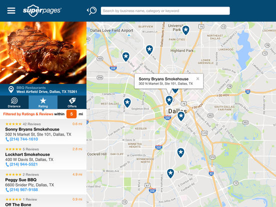 Superpages iPad Screenshot 3