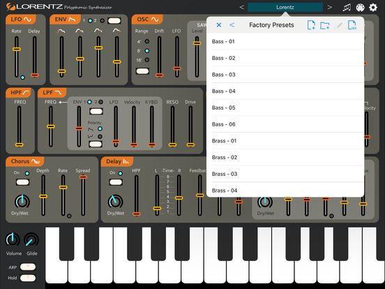 Lorentz Synthesizer Screenshots