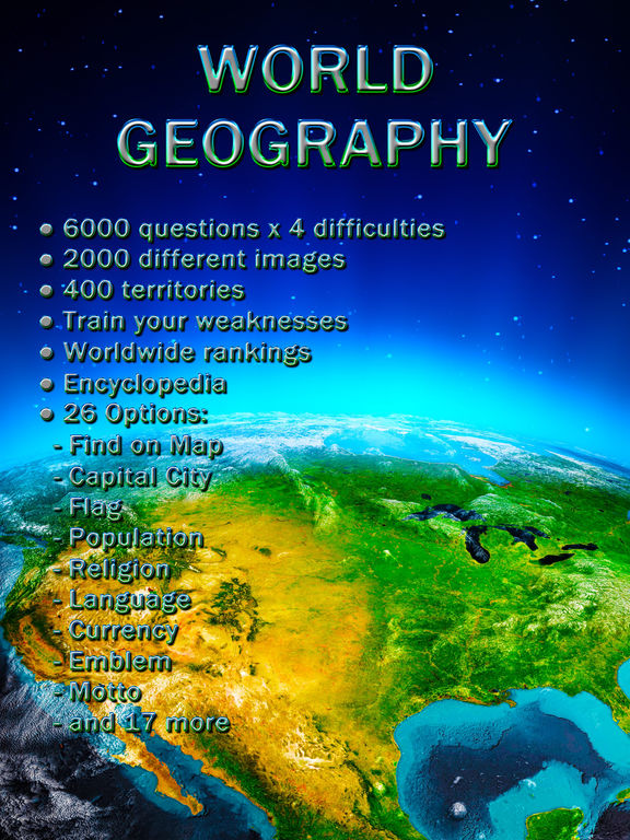 World Geography - Quiz Gamescreeshot 1