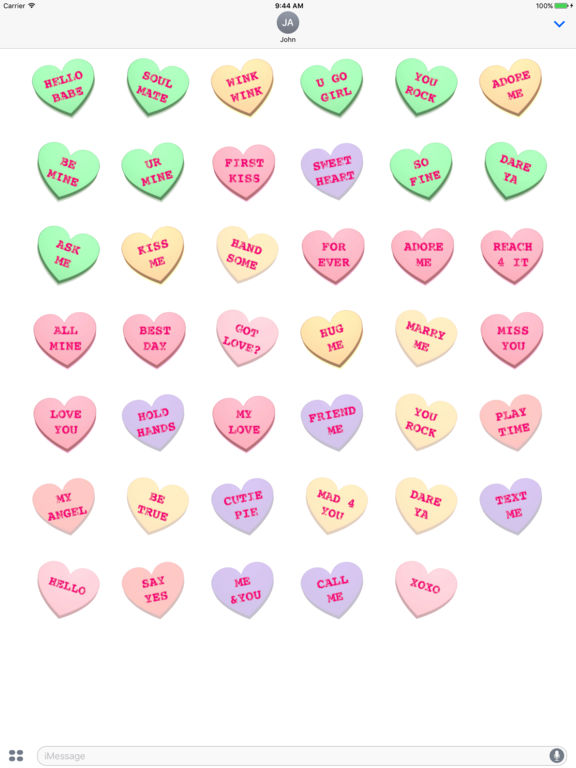 Screenshot #5 for Conversation Hearts XOXO