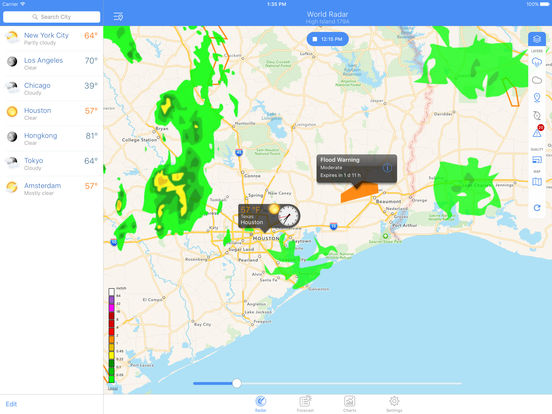 NOAA World Radar – Rain, Hurricanes & Weather Screenshots