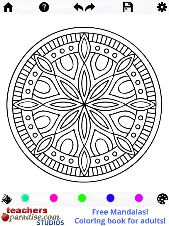 App Shopper Mandalas Adult Coloring Book Games