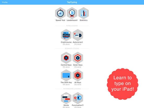 TapTyping - typing speed test iPad Screenshot 1