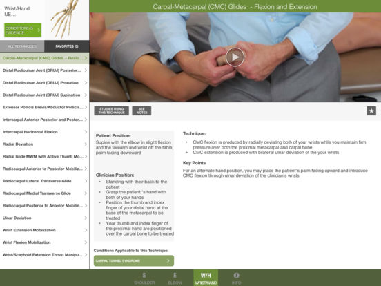 Mobile OMT Upper Extremity iPad Screenshot 4