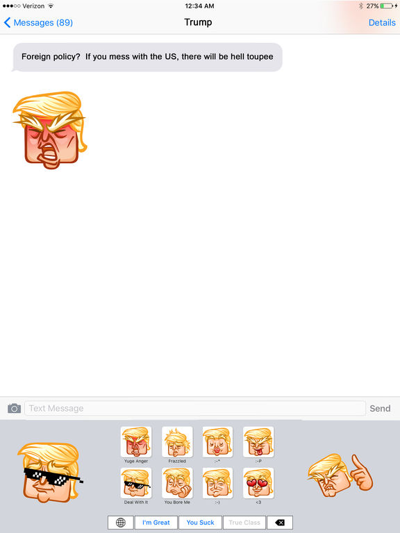 Trumpoji - Donald Trump Emoji Keyboard Screenshots