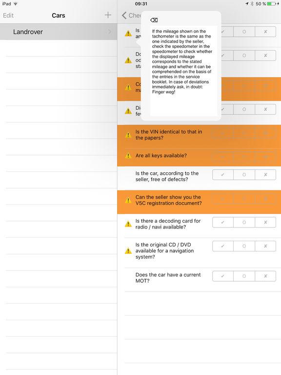 Checkliste Gebrauchtwagen Screenshots