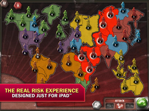 RISK: The Official Game for iPad screenshot #1
