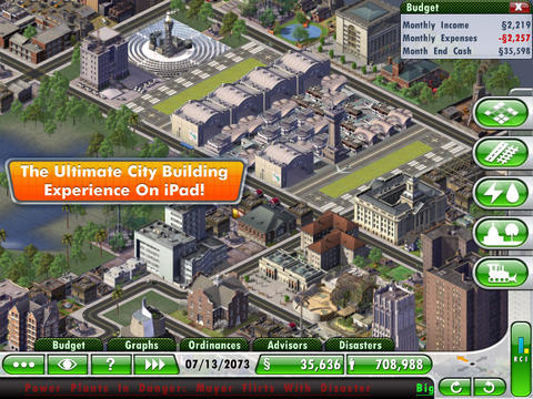 SimCity  Deluxe for iPad screenshot #4
