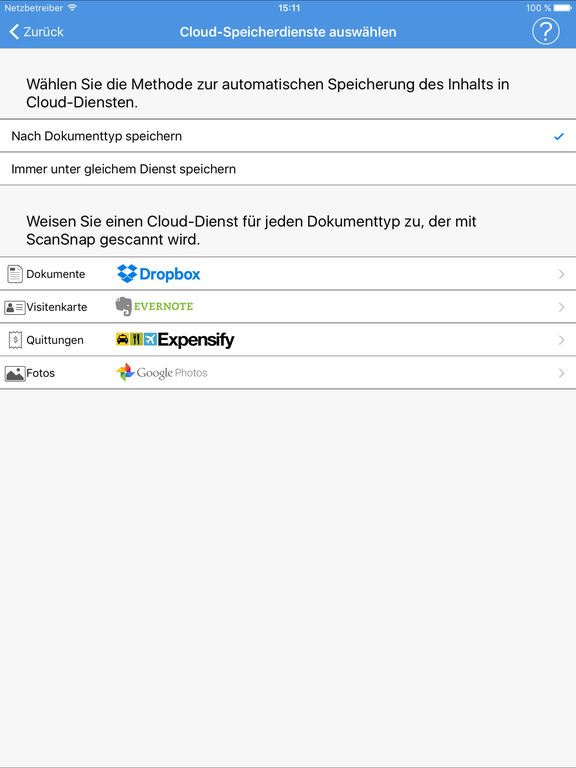 ScanSnap Cloud Screenshot