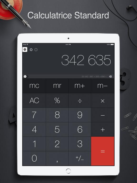 Screenshot Calculatrice Pro pour iPad