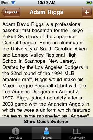 All Time Los Angeles Baseball Roster screenshot #2