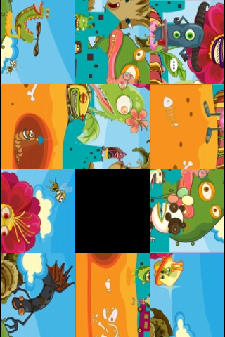 Friendly Monsters Slide Puzzle screenshot #3