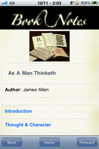 Book Notes - As A Man Thinketh screenshot #3