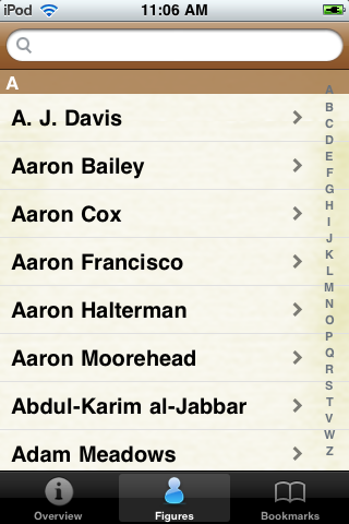 All Time Indianapolis Football Roster screenshot #1