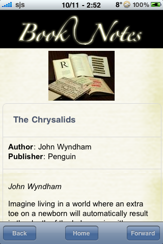 Book Notes - The Chrysalids screenshot #3